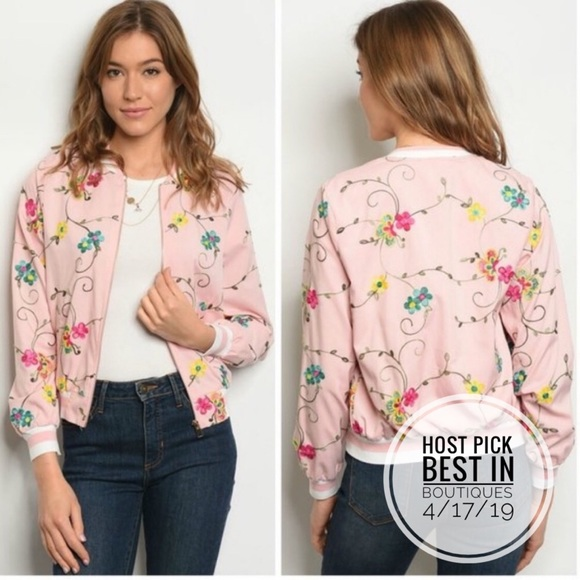 Jackets & Blazers - ONLY ONE LEFT! Lightweight Floral Bomber Jacket